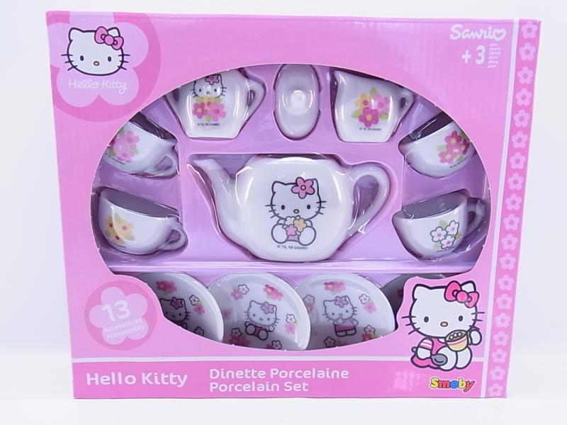 Smoby Porzellan Kaffee Service Hello Kitty Kinder Küche 11 ...