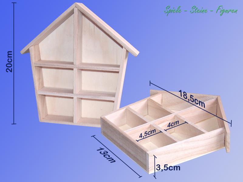 sperrholz setzkasten deko holz haus schaukasten sammelbox vitrine regal ebay. Black Bedroom Furniture Sets. Home Design Ideas