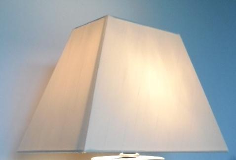 lampenschirm rechteckig stoff creme 40 cm breit 22 cm tief. Black Bedroom Furniture Sets. Home Design Ideas
