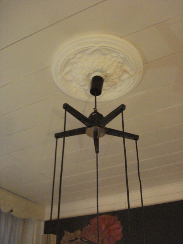 original 1960er jahre deckenlampe lampe mit 5 einzelnen. Black Bedroom Furniture Sets. Home Design Ideas