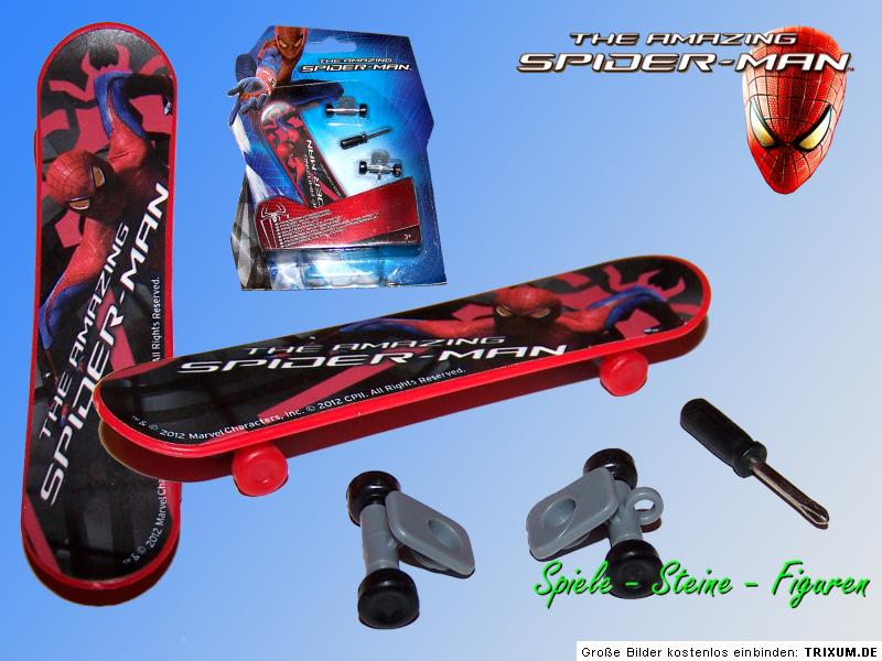 spiderman finger skateboard o fingerboard mit antrieb fun. Black Bedroom Furniture Sets. Home Design Ideas