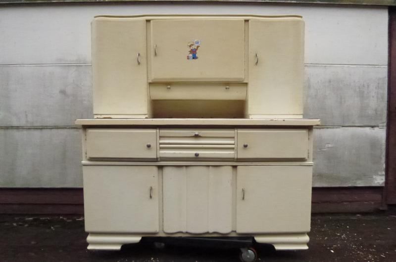 alter k chenschrank weiss originalzustand unrestauriert ca 1930 1960 ebay. Black Bedroom Furniture Sets. Home Design Ideas