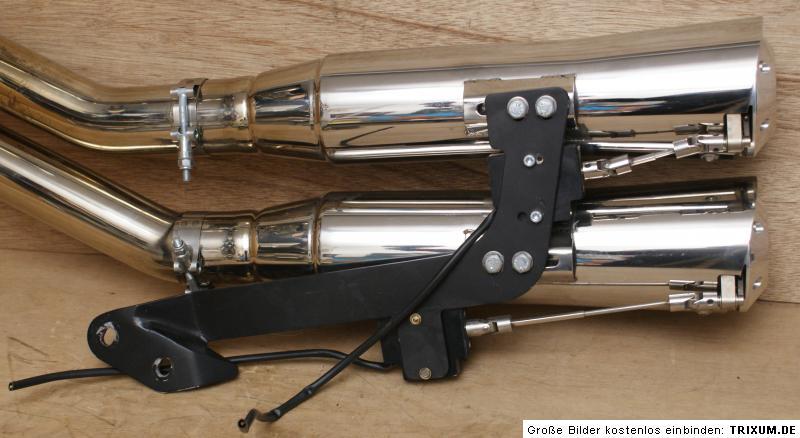 harley kess tech komplett auspuff schalld mpfer exhaust. Black Bedroom Furniture Sets. Home Design Ideas
