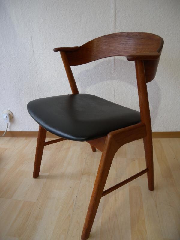 stuhl denmark kai kristiansen k s teak sessel modern mid century dining chair ebay. Black Bedroom Furniture Sets. Home Design Ideas