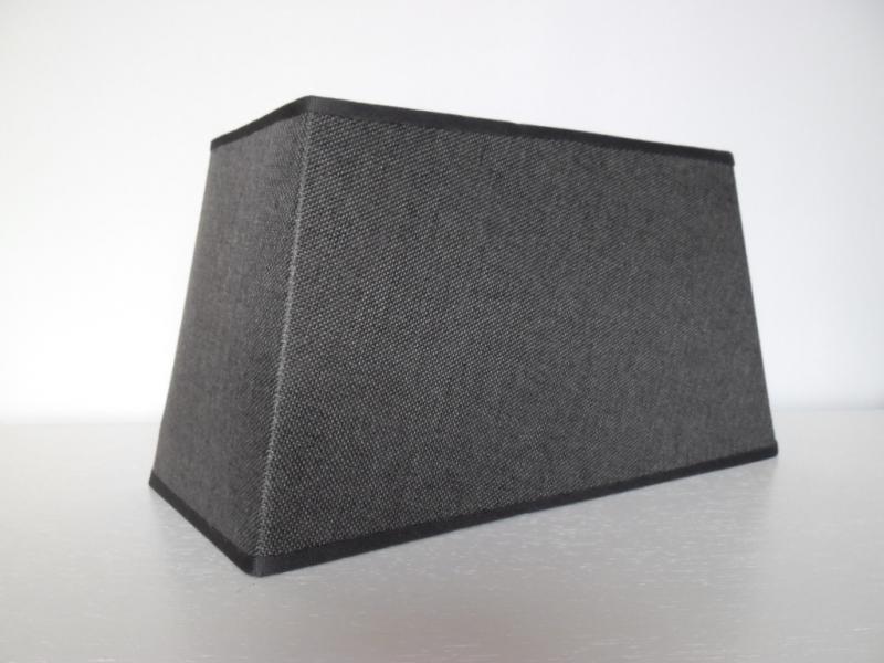 lampenschirm rechteckig grau leinenstruktur 35 cm breit 17 cm tief 19 cm hoch ebay. Black Bedroom Furniture Sets. Home Design Ideas