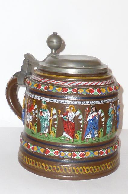 Gartenweg Keramik : Details zu Großer ?? Creussener Keramik ??? Apostelkrug Krug Bierkrug ...