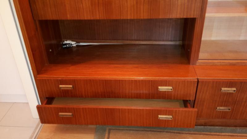 schrankwand wohnwand brumax anbauw nde 60er jahre teakholz 3 55 meter ebay. Black Bedroom Furniture Sets. Home Design Ideas