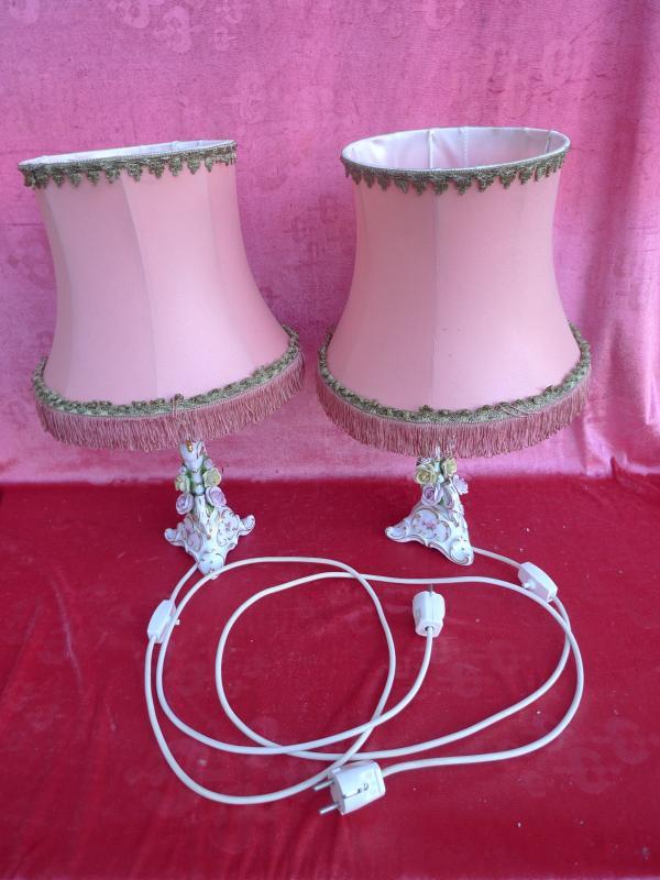 Sch nes altes lampen paar tischlampen kaiser porzellan for Gebrauchte lampen