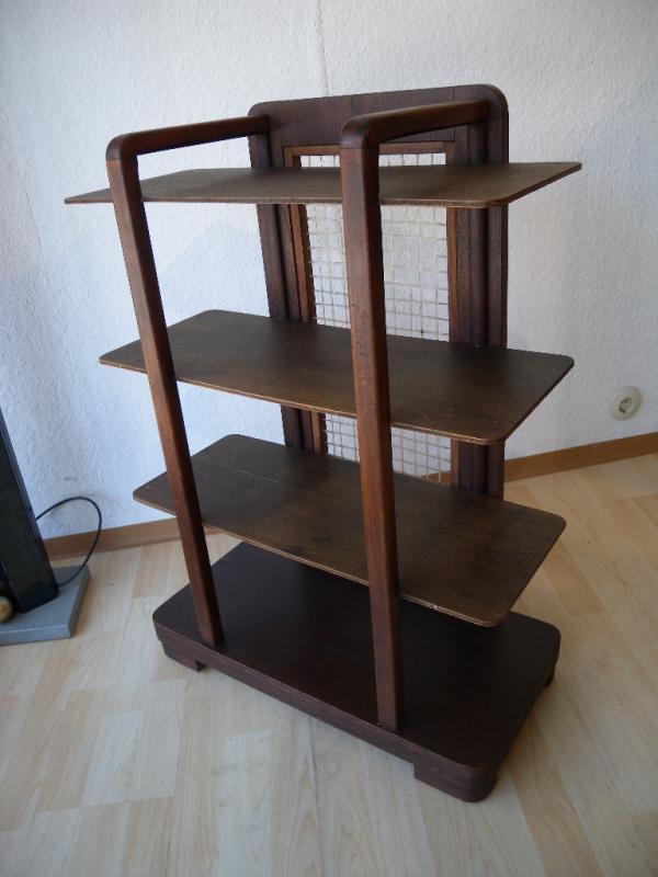 seltenes art deco bauhaus holz regal etagere zeitungsst nder b cherregal um 1930 ebay. Black Bedroom Furniture Sets. Home Design Ideas