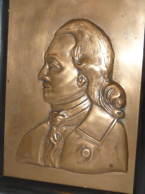 antique personality plaque signed mozart relief picture platter rare. Black Bedroom Furniture Sets. Home Design Ideas