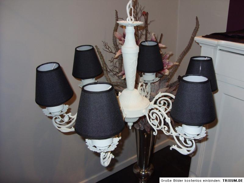 Lampenschirm klemmschirm aufsteckschirm kronleuchter 12x8x13 blumen neu ebay - Kronleuchter mit lampenschirm ...