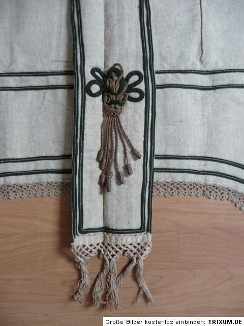 Original jugendstil gardine schabracke aus leinen um1910 - Schabracke gardine ...