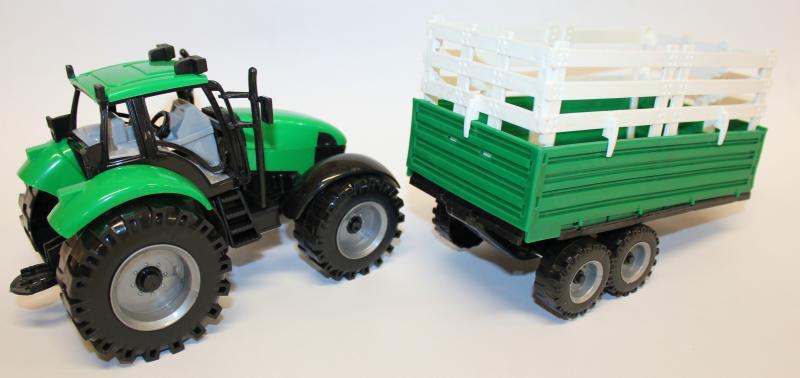 bauernhoftraktor mit heuanh nger spielzeug traktor mit anh nger von gearbox ebay. Black Bedroom Furniture Sets. Home Design Ideas