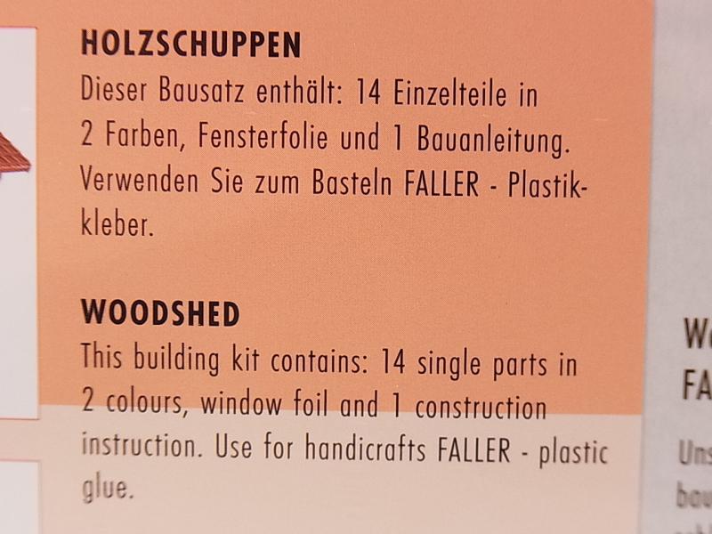 lot 30528 faller ho 130185 holzschuppen woodshed. Black Bedroom Furniture Sets. Home Design Ideas