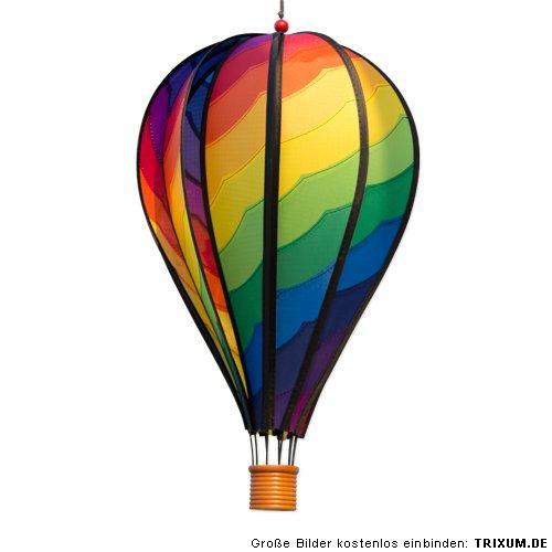 windspiel ballon mit holzkorb bunter hei luftballon mobile. Black Bedroom Furniture Sets. Home Design Ideas
