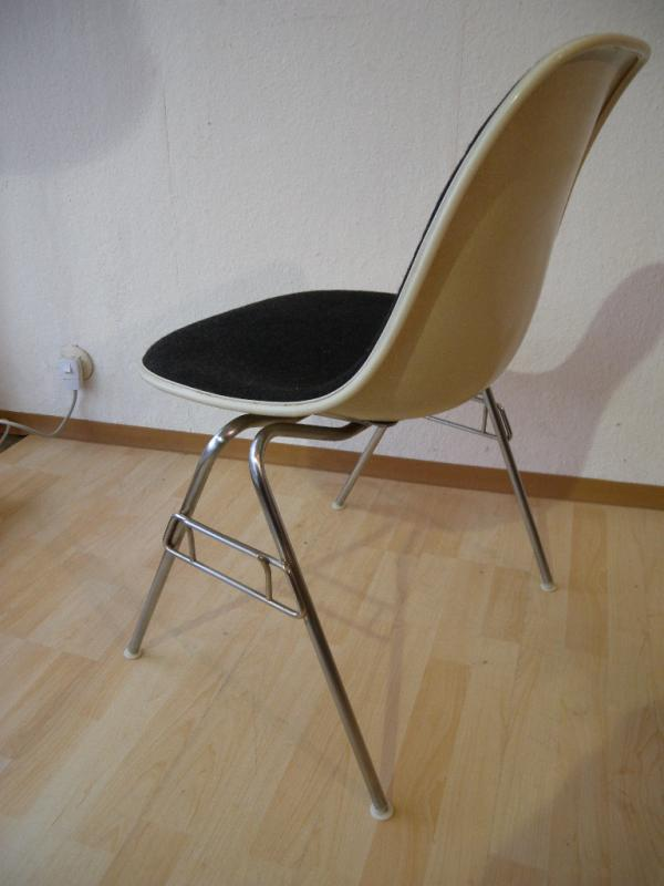 org 60er 70er eames fiberglas sidechair herman miller chair hopsak grau stuhl ebay. Black Bedroom Furniture Sets. Home Design Ideas