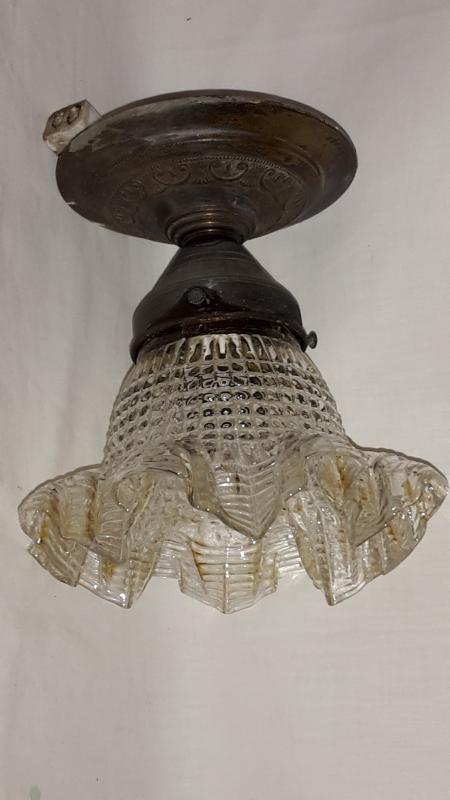 antike deckenlampe jugendstil glas messing ebay. Black Bedroom Furniture Sets. Home Design Ideas