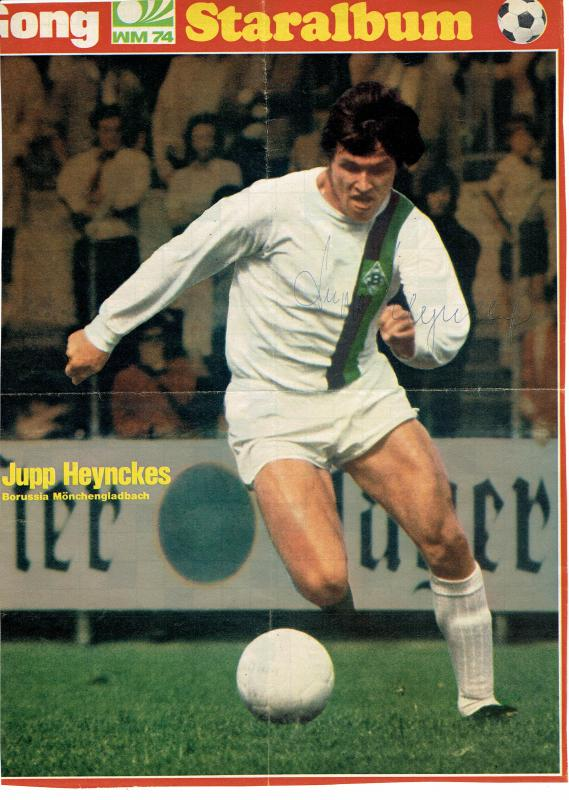 Original Autogramm Jupp Heynckes Borussia Mönchengladbach 21 x 29cm Sammeln & Seltenes Fußball, international