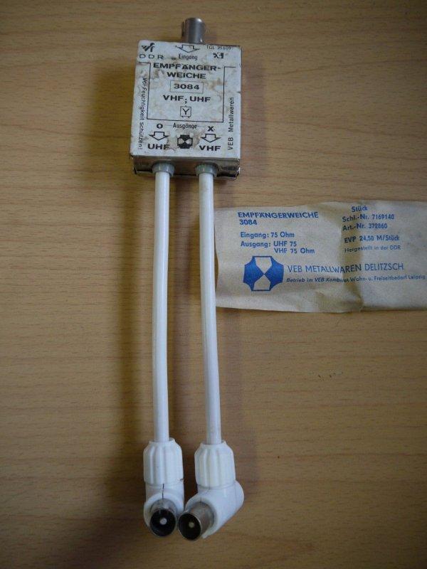 Empfängerweiche DDR  3086 LMK AM UKW FM 75 Ohm hochohmig OVP