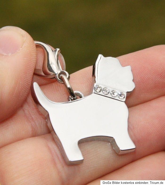Ohrstecker Ohrringe Hund Westi Terrier mit Herz gold