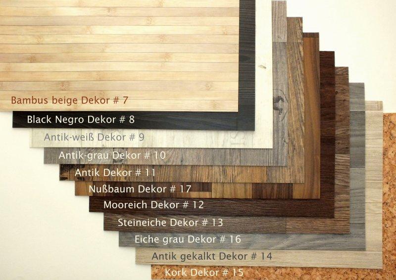 Platzset Tischset Holzdekor Antik Grau Abwaschbar Rutschfeste