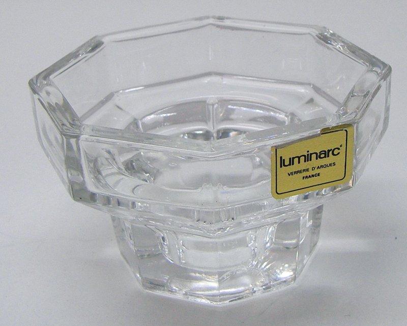 Kerzenhalter glas luminarc kerzenst nder 8 eckig kerze for Glas kerzenhalter