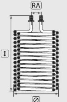 Heizschlange für Kärcher HDS 697 CI   Heizspirale für Kärcher HDS 697CI