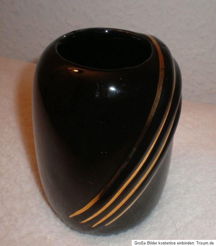 kleine vase schwarz gold minivase tischvase blumenvase miniatur 9cm bauhaus deko ebay. Black Bedroom Furniture Sets. Home Design Ideas