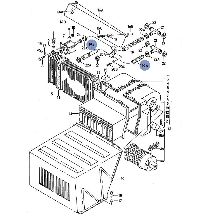 vw t3 bus k hlwasserschlauch heizung zusatzheizung. Black Bedroom Furniture Sets. Home Design Ideas