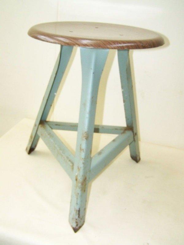 Ancien tabouret art d co tabouret d 39 atelier vintage bauhaus design chaise ebay - Tabouret d atelier vintage ...