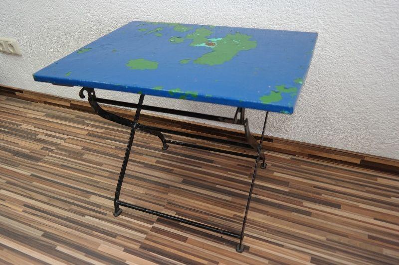 Age Table Pliante De Camping Jardin Pliable Bois Et Métal