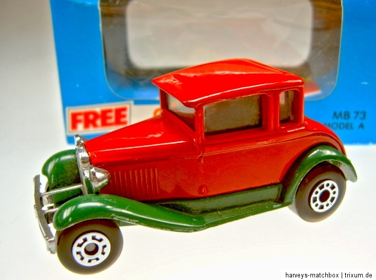 matchbox superfast ford model a rot gr n in box. Black Bedroom Furniture Sets. Home Design Ideas