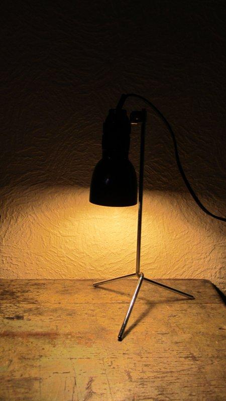 lampe schreibtischlampe b ro bakelit drehschalter tripod dreibein e14 ebay. Black Bedroom Furniture Sets. Home Design Ideas