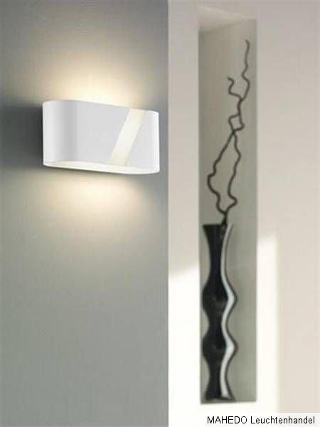 Design Wandleuchte Wandlampe KATIE Metall schwarz indirektes Licht E27 Sparlampe