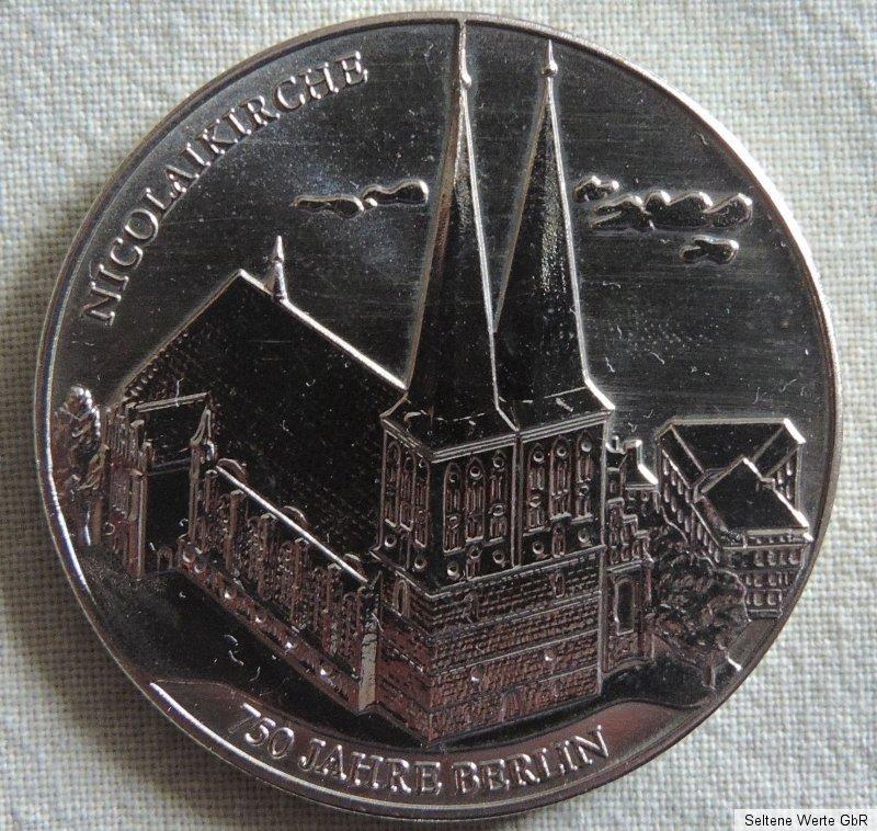 Medaille 750 Jahre Berlin älteste Siegel Nicolaikirche Ebay