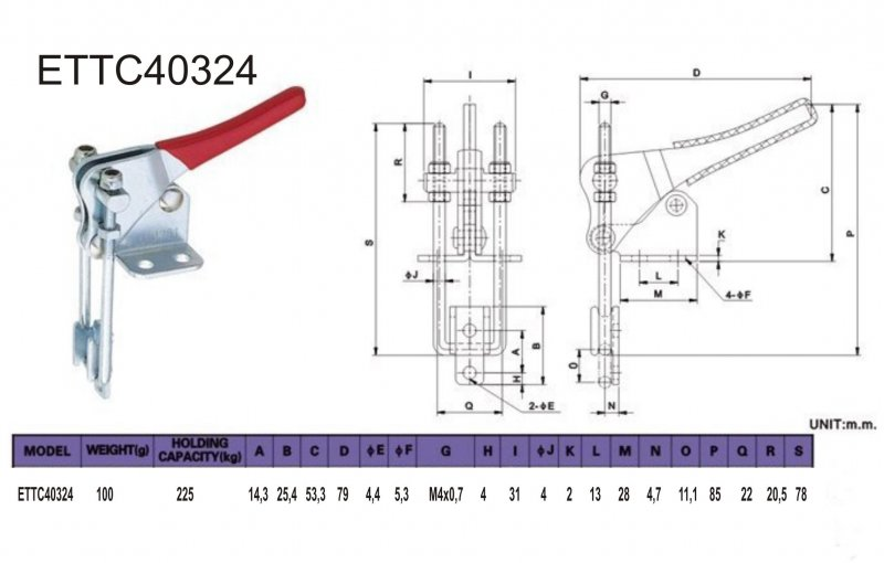 Bügelspanner Verschlußspanner Schnellspanner Haltekraft 163 kg