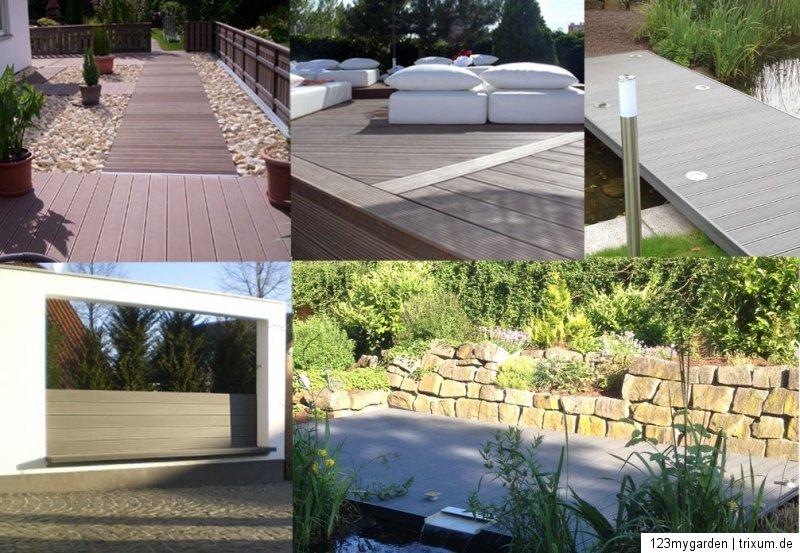 Musterset WPC Terrassendielen Dielen Diele Deck Terrassen Holz Haus Fliese
