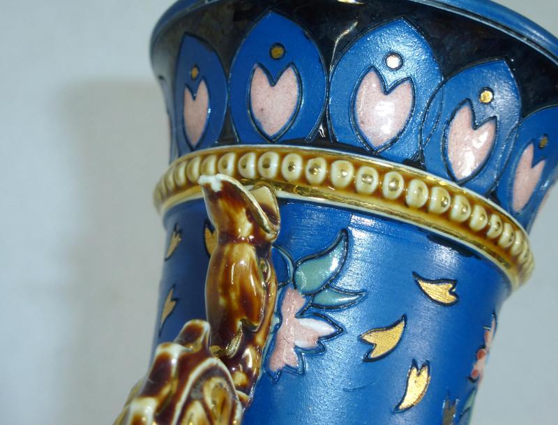 large rare scribed vase villeroy boch mettlach 1889 ebay. Black Bedroom Furniture Sets. Home Design Ideas