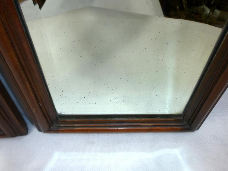 zwei ausgefallene spiegel um 1860 nussbaum ebay. Black Bedroom Furniture Sets. Home Design Ideas