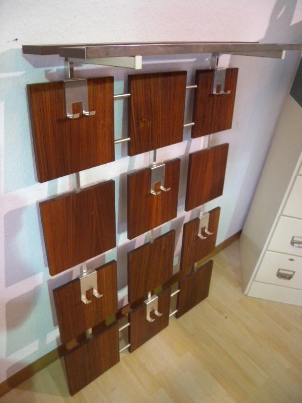 70er mid century design garderobe palisander chrom for Garderobe 70er design