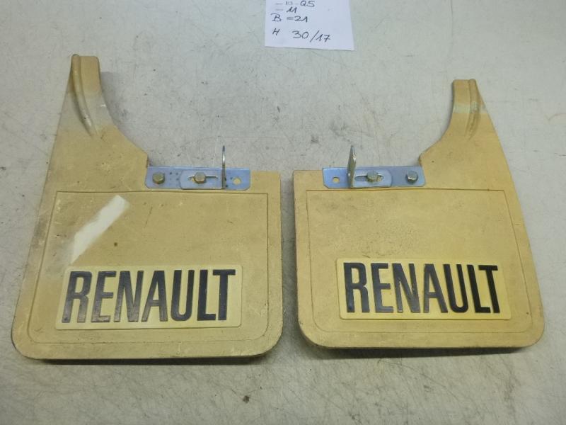 Renault Oldtimer Schmutzfänger Spritzlappen mud flaps weiß white mit ...