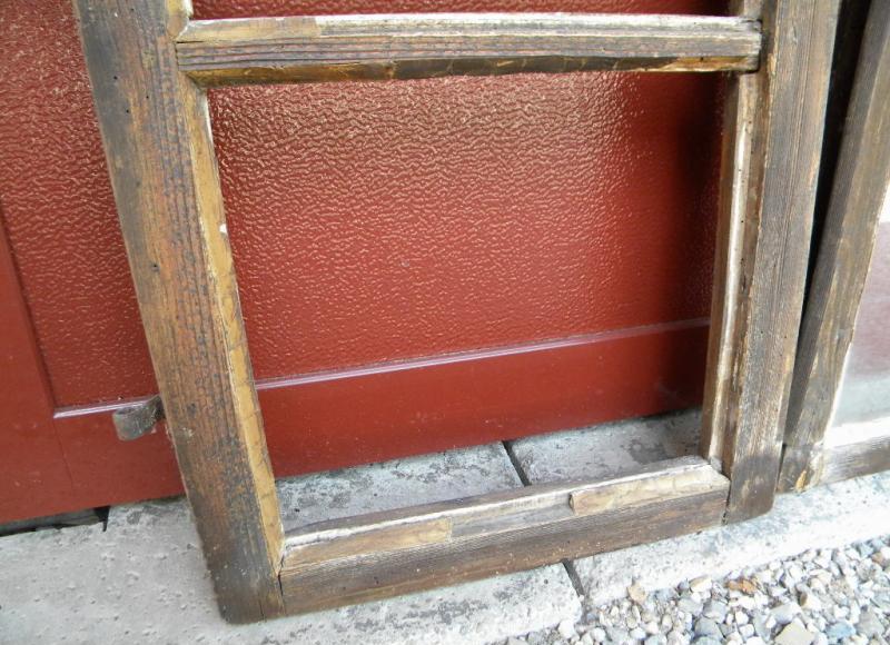 5x altes holzfenster fenster fensterfl gel nur deko ohne fensterstock ebay - Alte fensterflugel ...
