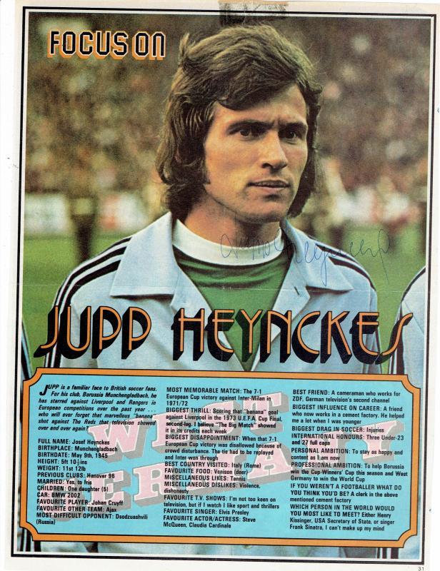 Sport Original Autogramm Jupp Heynckes Borussia Mönchengladbach 21 x 29cm