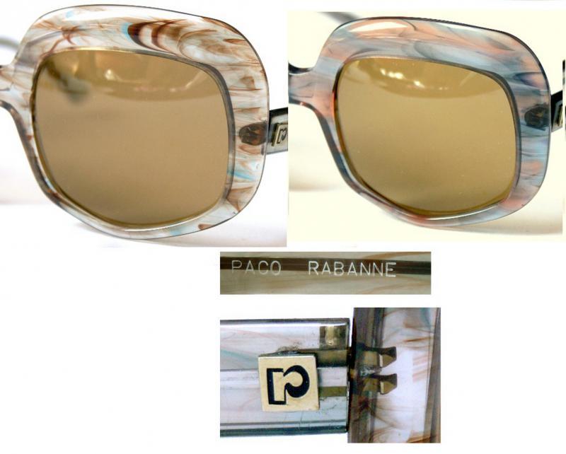 Details zu Vintage Paco Rabanne Sonnenbrille,70er,lunettes,sunglasses,70s,ungetragen,2xvorh