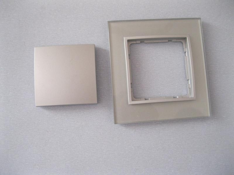 1x Berker B.7 Glas Rahmen mit Wippe Silbergrau (neuwertig aus ...