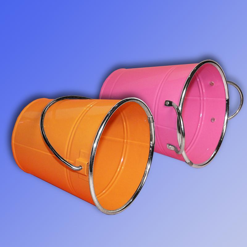 Höhe 12 cm in 7 Farben erhältl. lackiert Kleiner Zinkeimer mit Metallgriff