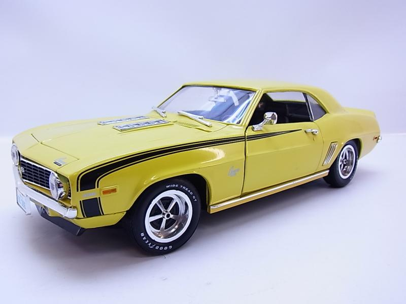 Details about Lot 48357 ERTL GM Chevrolet Camaro SS 1969 Yellow US Car Die Cast Model Car 1:18 show original title